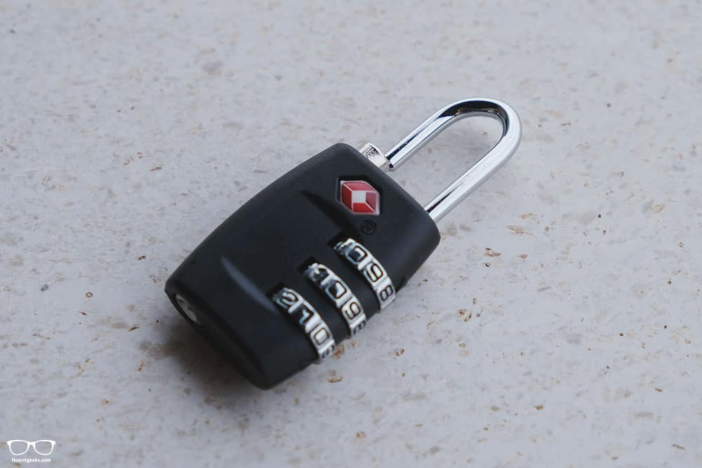Padlock from backpacking bundle