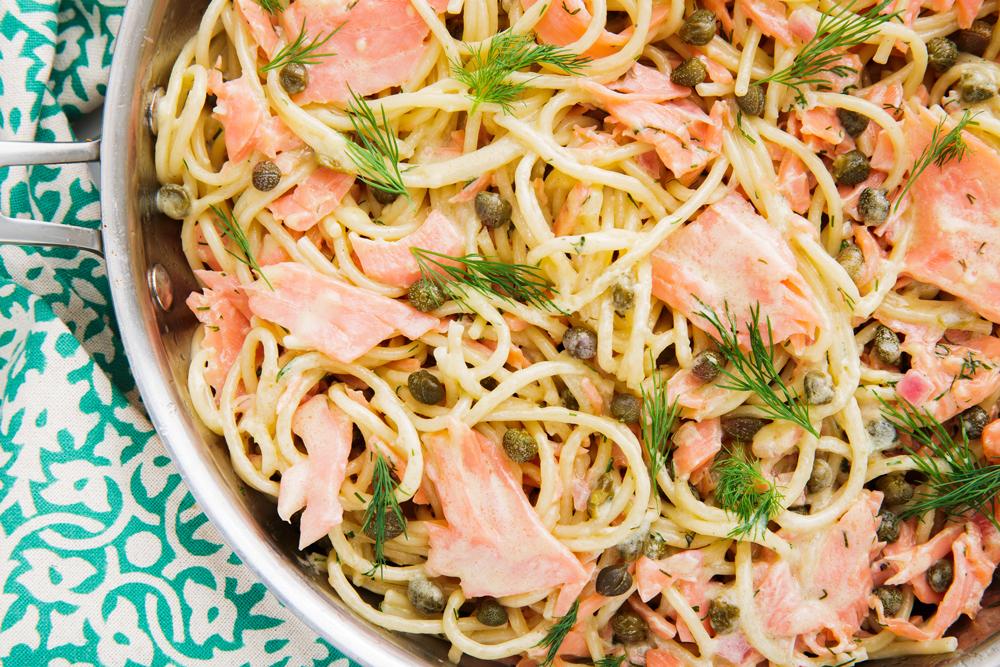 Spaghetti met Zalm