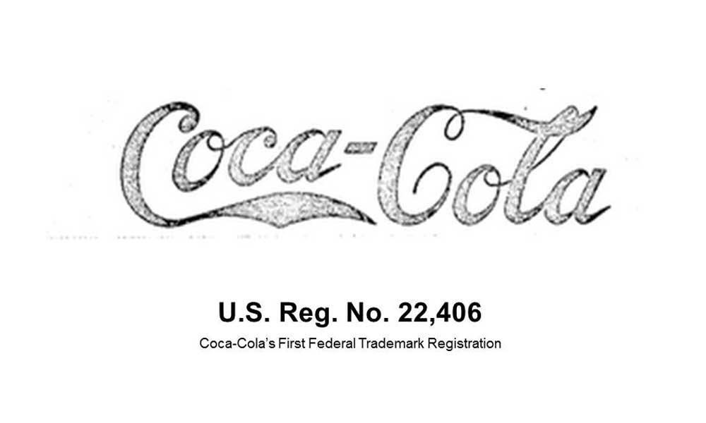 coca-cola first registered logo