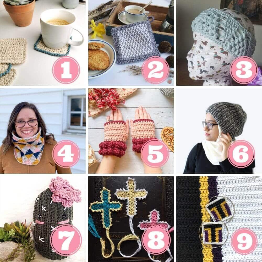 Scrap yarn projects week 2 projects 1 to 9