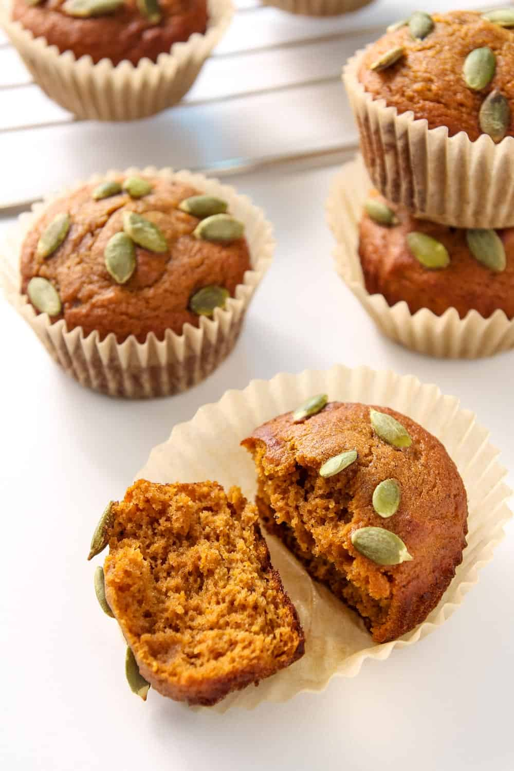Pumpkin Muffins with Pumpkin Seeds