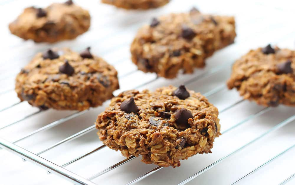 Pumpkin Oatmeal Cookies with Chocolate