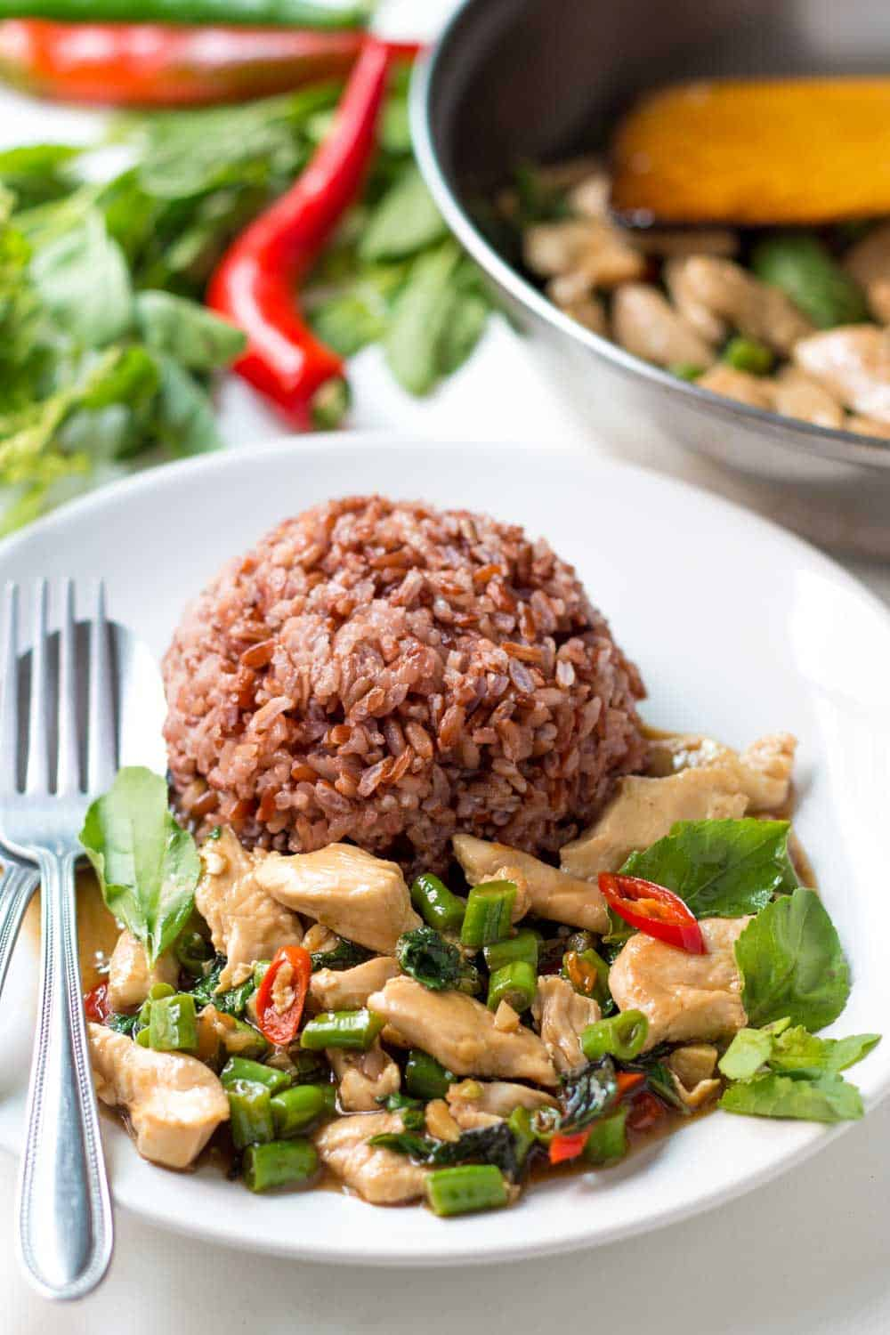 Chicken Stir-fry with Thai Basil