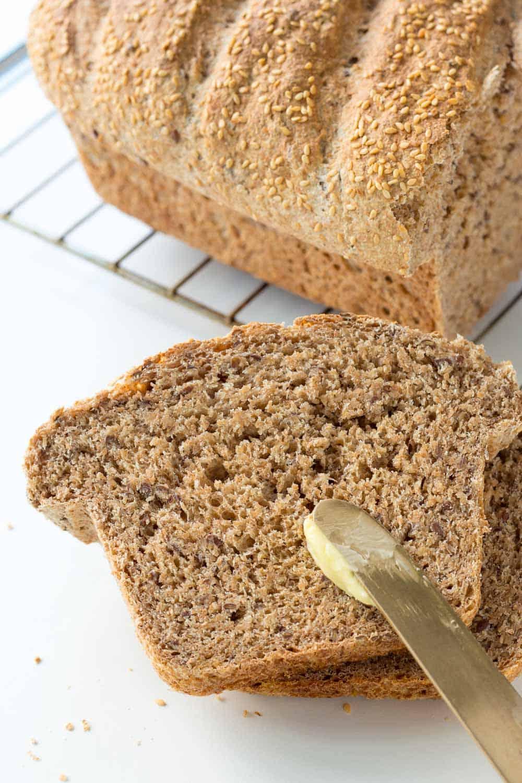 Buttering Spelt Bread
