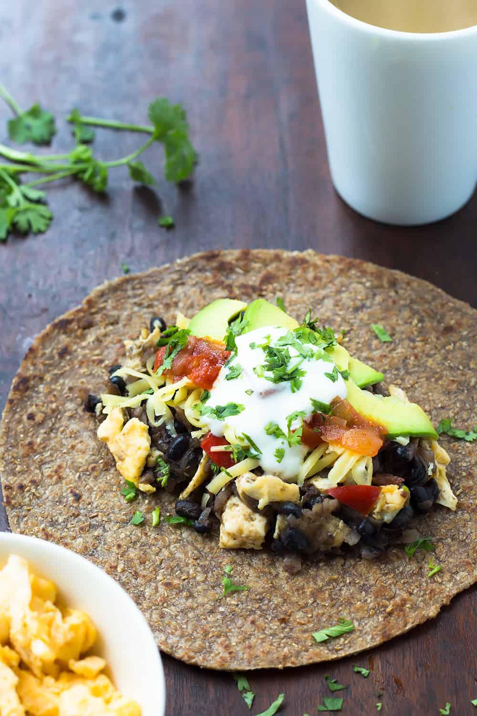 Breakfast Burrito with Black Beans