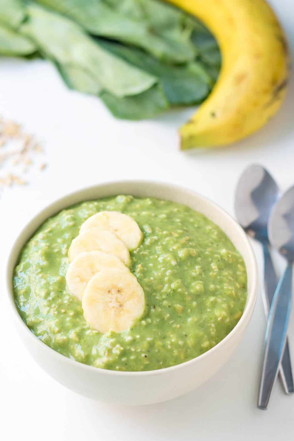 Green Smoothie Overnight Oats Recipe