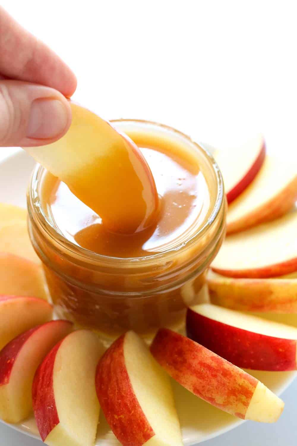 Dipping Apples in Caramel