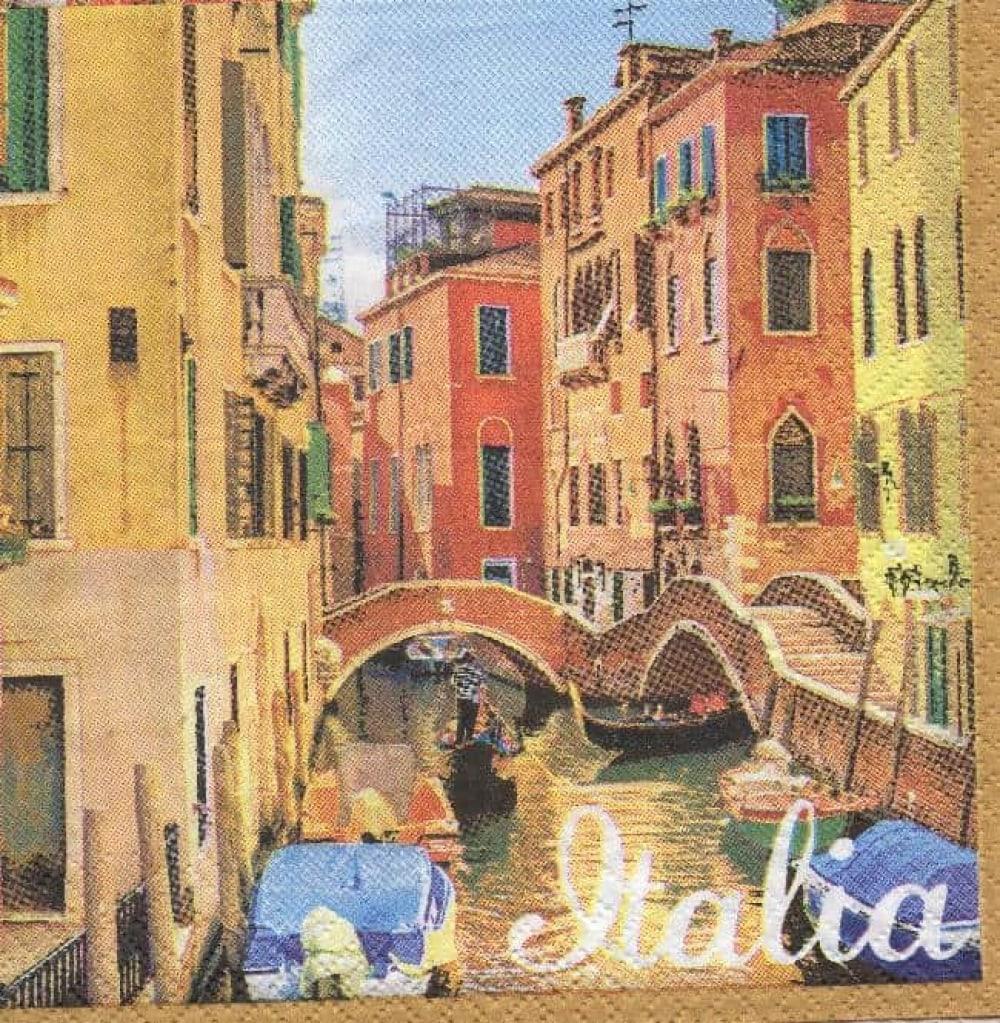 Serviette papier Italie et Venise