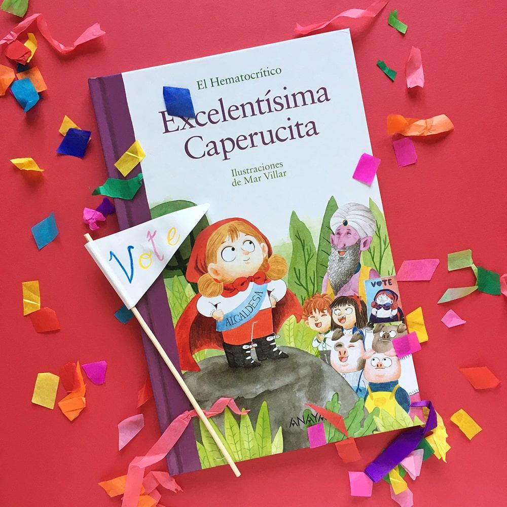 Excelentisima Caperucita, Hematocrítico, Anaya, Mar Villar, cuento de Caperucita, diseño de personajes, proceso de ilustracion,
