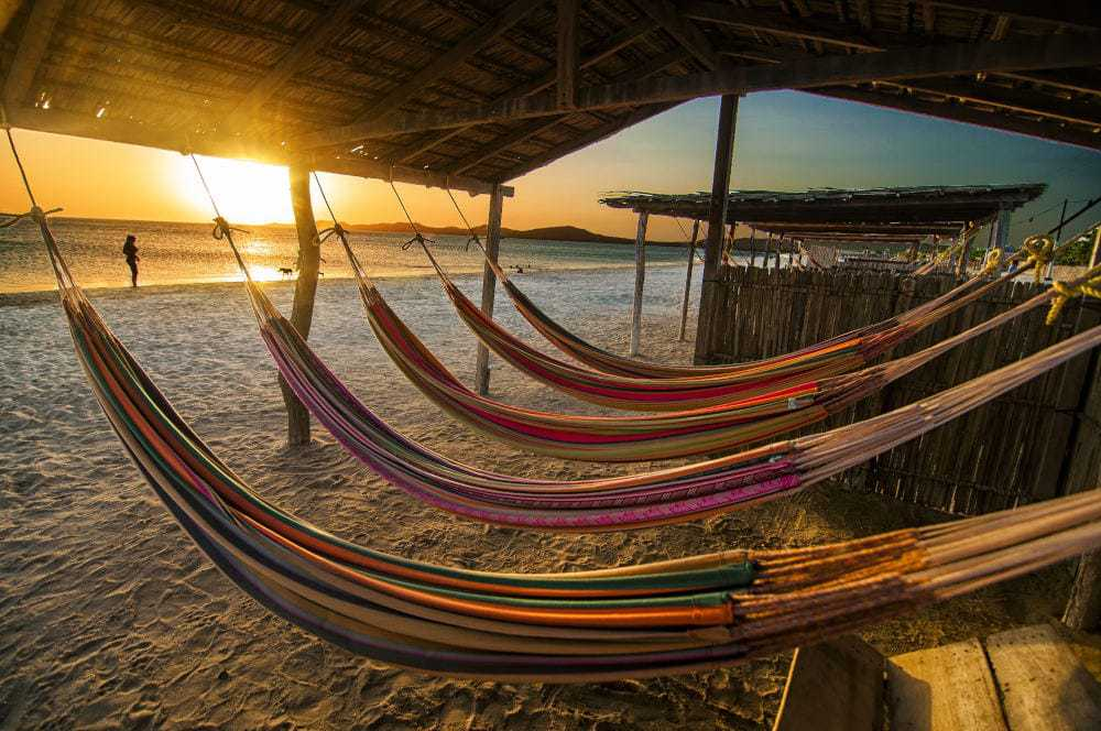 Guajira hammocks on beach