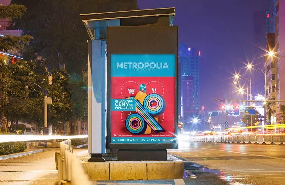 Projekty plakatów na przystanki autobusowe