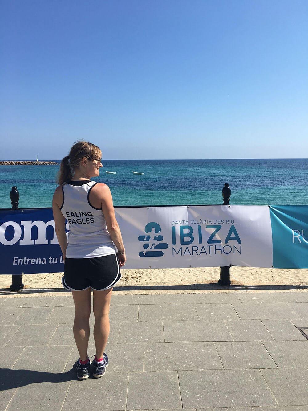 Running Ibiza at the 12k race in Ibiza