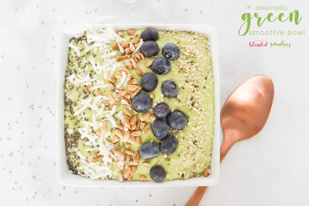 Avocado Green Smoothie Bowl