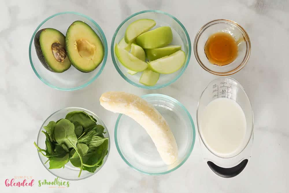 Green Apple Avocado Green Smoothie Ingredients