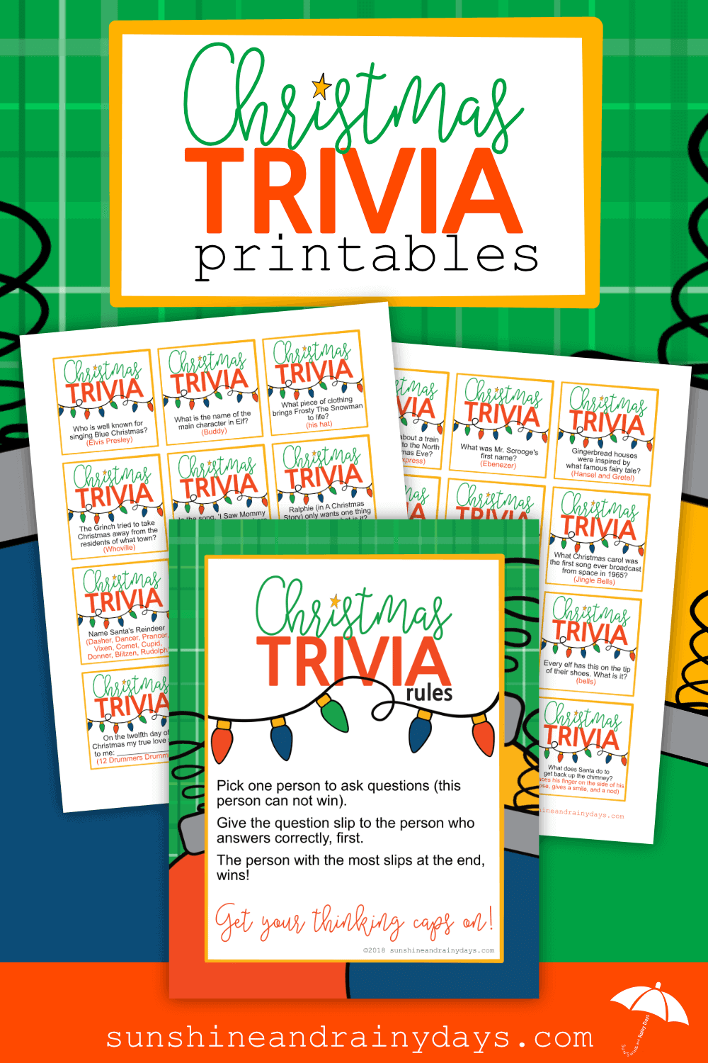 Are you hosting Christmas this year and want to bring a bit of excitement to the crowd? TheChristmas Trivia Gamefits the bill! Even Mr. Grumpy Pants will want to get involved with this one so he can share his vast knowledge! Christmas Trivia Games | Christmas Trivia Printable | Christmas Trivia Games For Family | #ChristmasGames #ChristmasPrintables #SARD
