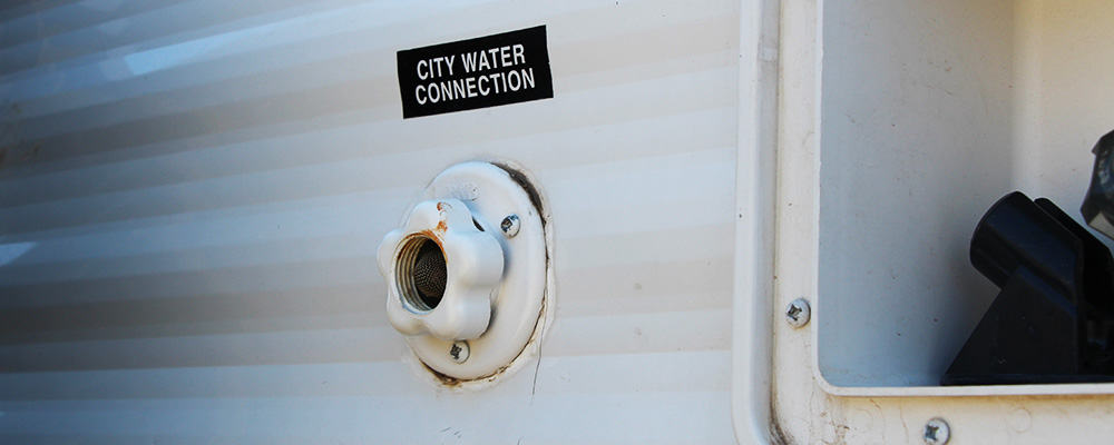 The city water connection is where you connect water directly to your RV's plumbing system.