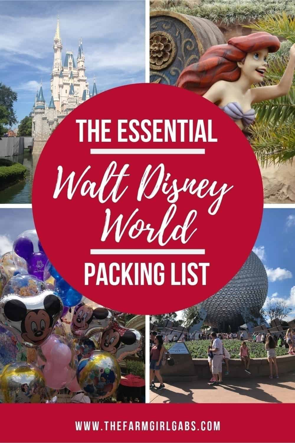 The Essential Walt Disney World Packing List is a great resource for your vacation to the Walt Disney World Resort. This checklist includes all the essential items you need to pack for your Disney vacation. #familytravel #DisneyPackingTips #WaltDisneyWorld