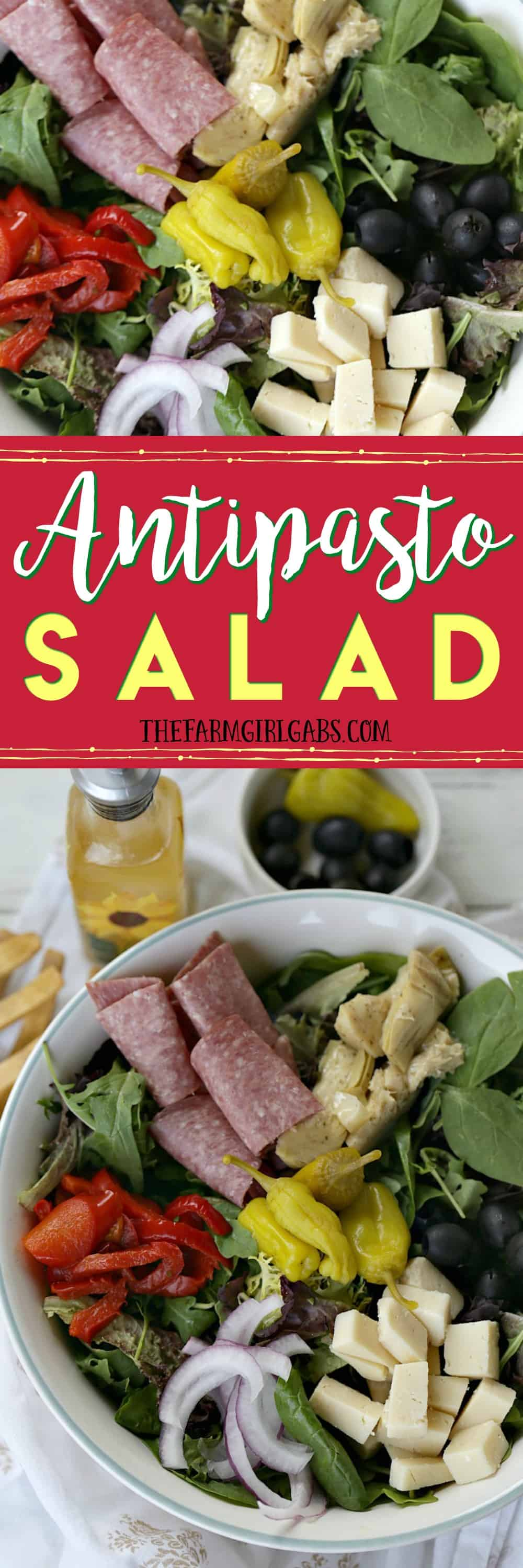 Why save this Easy Antipasto Salad for a special occasion? It's an easy Italian salad recipe that can be enjoyed anytime. #Ad #CookingWithCoke
