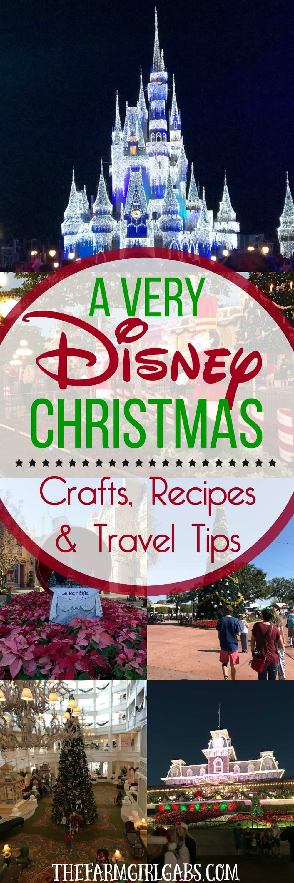 A Very Disney Christmas: The Ultimate Collection of Disney Crafts, Recipes & Disney Holiday Travel Tips. #WaltDisneyWorld #DisneyCrafts #DisneyRecipes