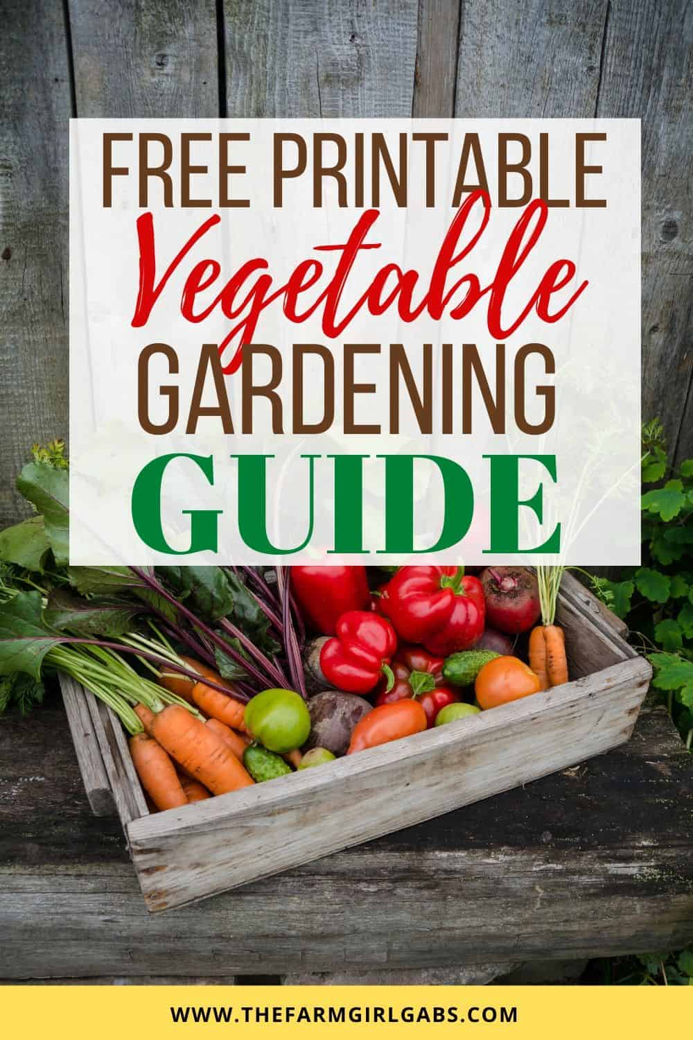 Get Your Garden Growing this summer with this Printable Vegetable Gardening Guide. This free gardening guide will help guide you in planting a spring garden.