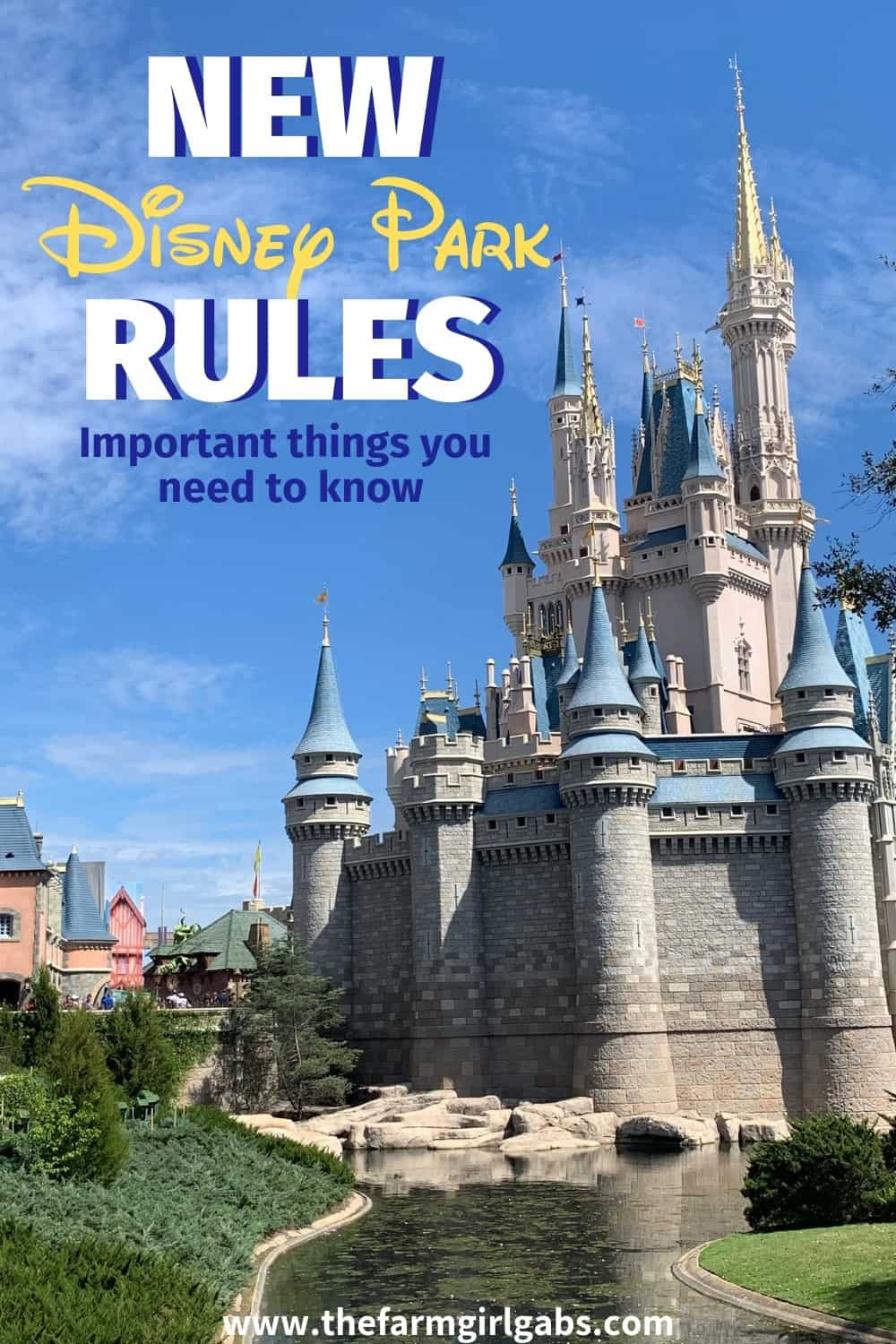 New rules at Disneyland and Walt Disney World might affect your vacation. Here is a list of the new Disney park bans coming as early as this May. #DisneyParks #DisneyLand #DisneyWorld #DisneyParkBans #DisneyPackingTips #DisneyPackingList
