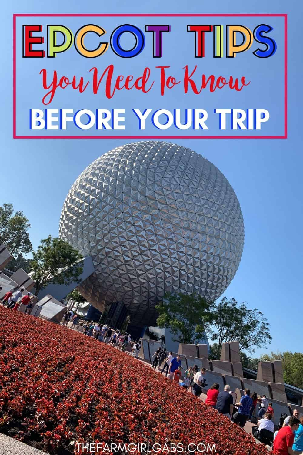 If you are unfamiliar with Epcot and not sure how to plan a day there, follow these 5 Epcot pro tips to beat the learning curve and get more out of your day. These helpful Disney Tips will get you the most our of your Disney World Vacation. #Epcot #DisneyTips #DisneyPackingList #DisneyPlanning #FamilyTravel