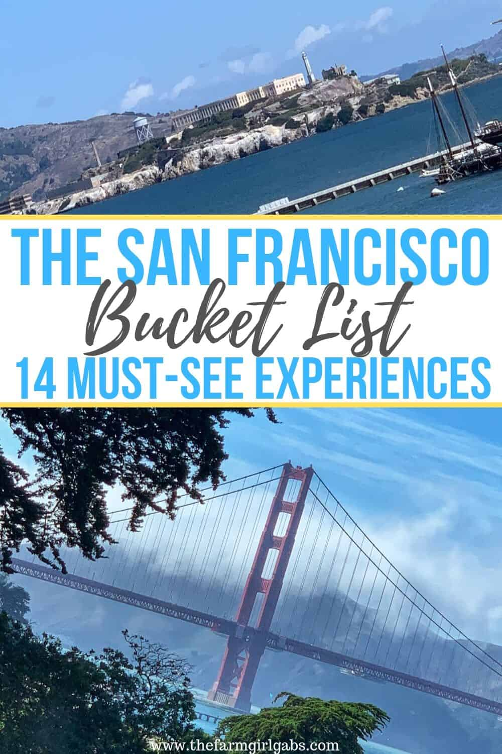 San Francisco has so many things to experience. Check out these 14 Must-Do Experiences in San Francisco that you won't want to miss out on while visiting this great city. #Sanfrancisco #GoldenGateBridge #TravelTips
