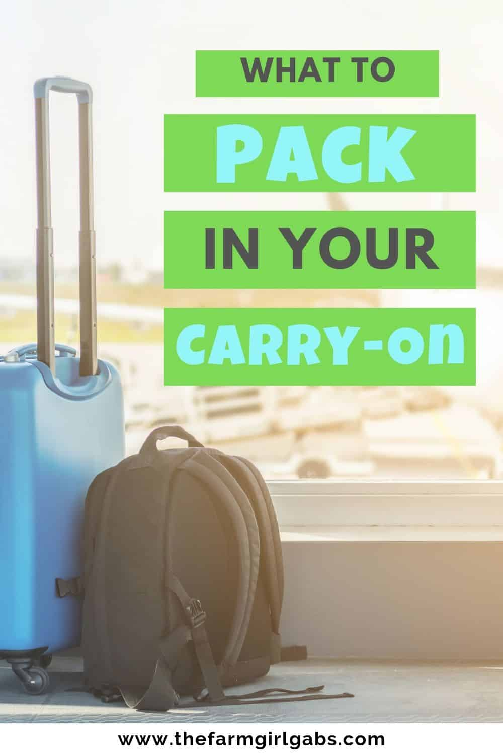 This Ultimate List of What To Pack In Your Carry-On Bag will help you be prepared with all In-Flight essentials to help you get to your destination in comfort and with everything you need! #packingtips #carryon #travel