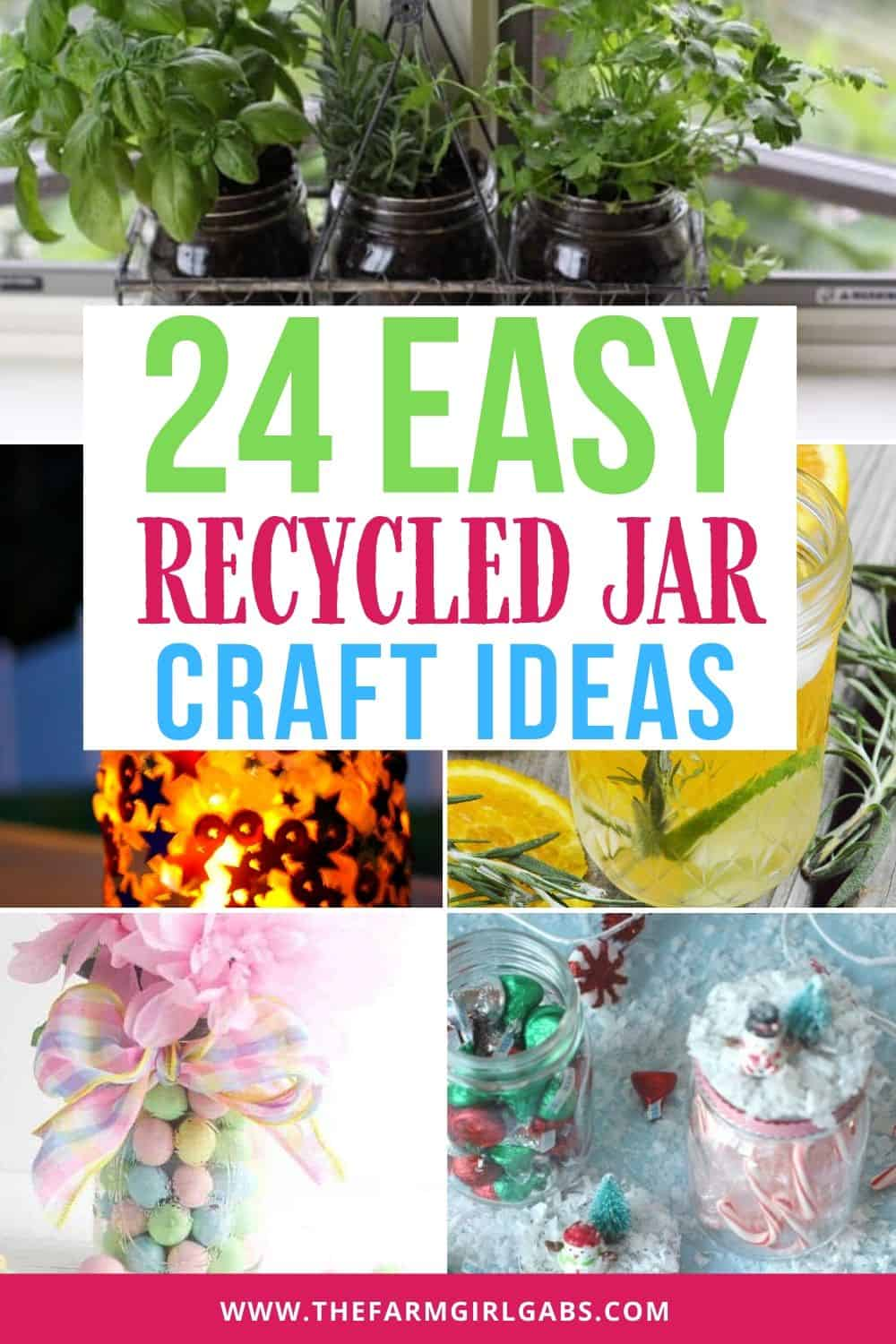 Have a few empty mason jars in your pantry. Get creative and make one of these easy DIY Recycled Glass Jar Crafts.