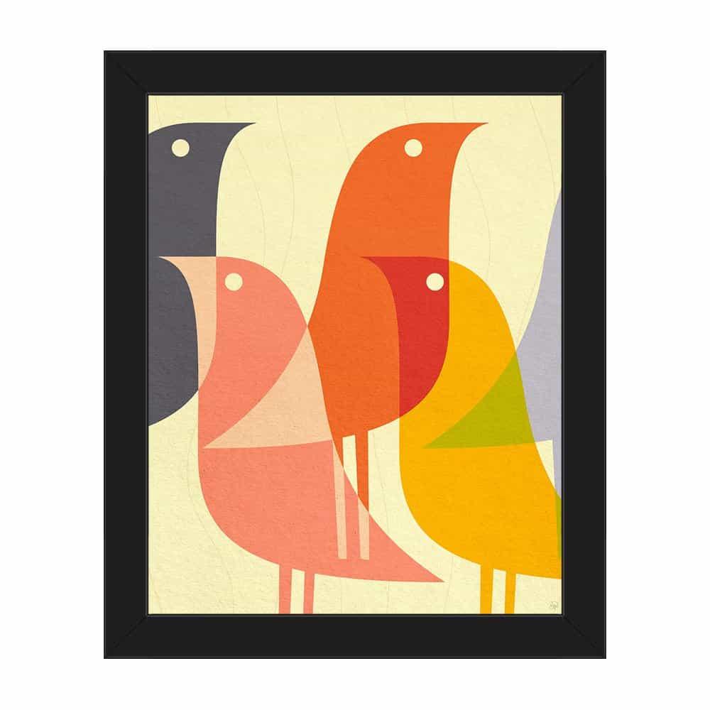 Retro Bird Caravan Orange