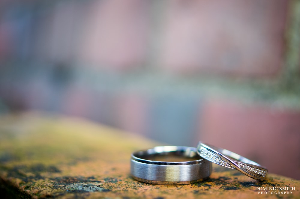 Wedding Rings of Claire and Mark at Highley Manor