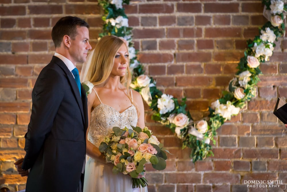 Wedding Ceremony at Cooling Castle Barn