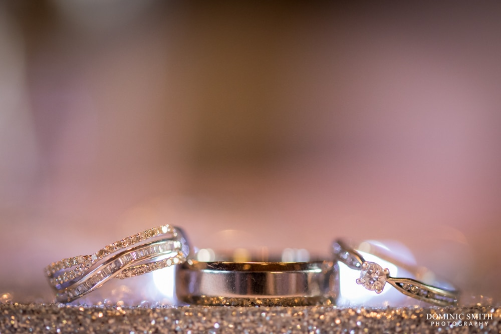 Sparkly wedding ring photo