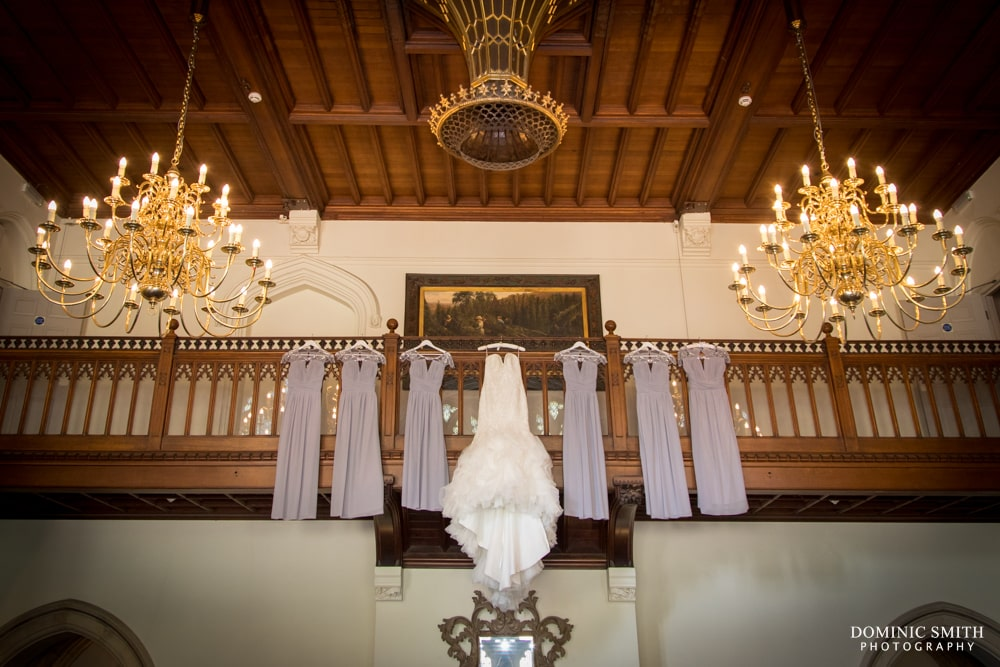 Wedding Dresses hanging out at Nutfield Priory