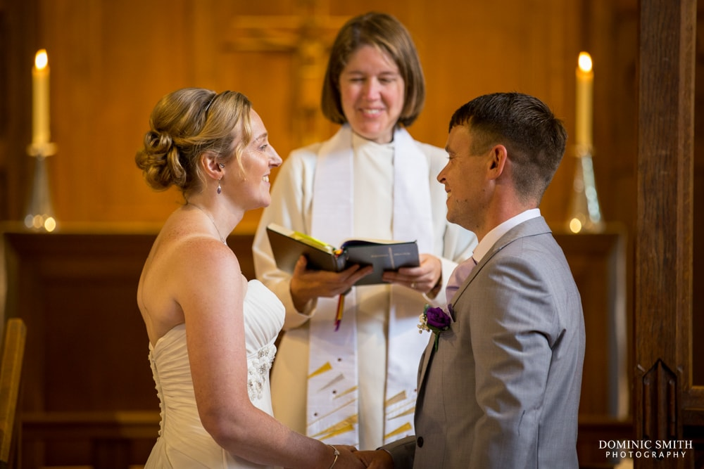Wedding vows at St Augustines Church