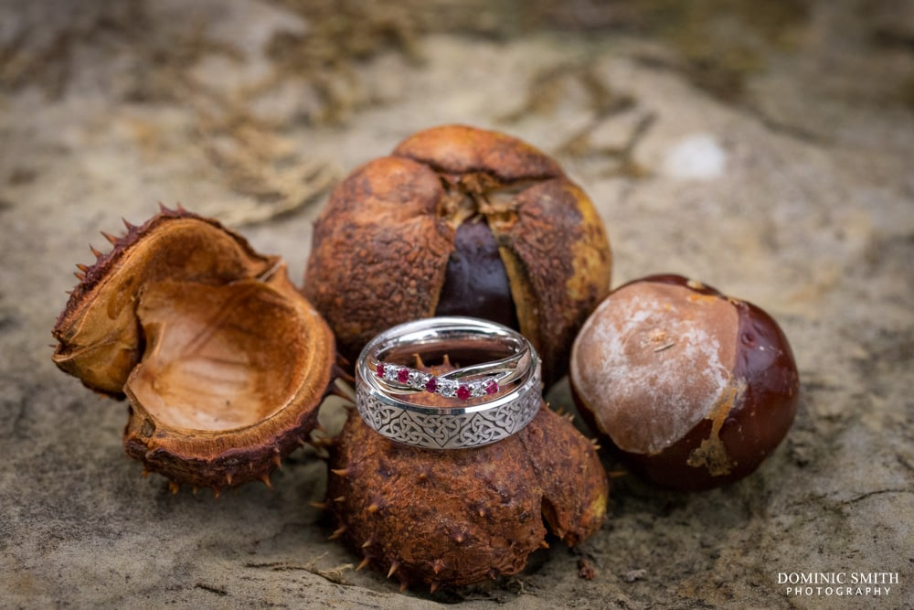 Autumnal wedding ring photo