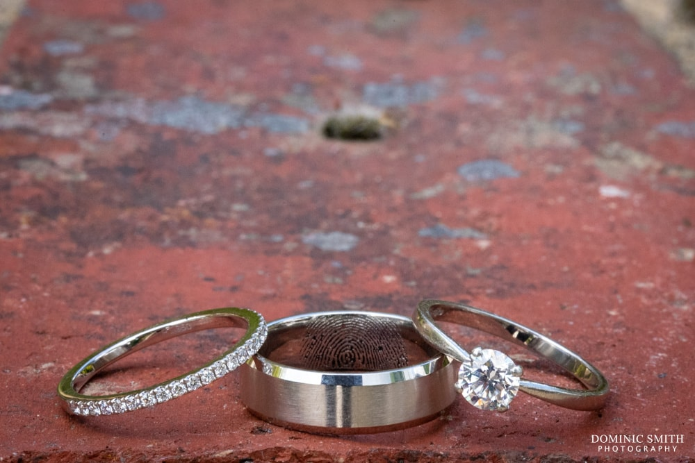 Wedding rings at Smallfield Place