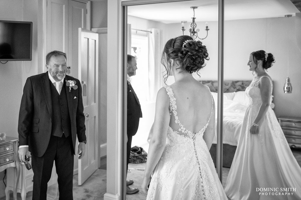 Father of the Bride seeing his Daughter at Blackstock Country Estate