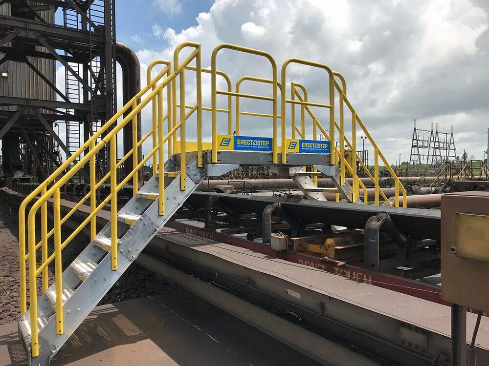 Metal Industrial Crossover Stairs