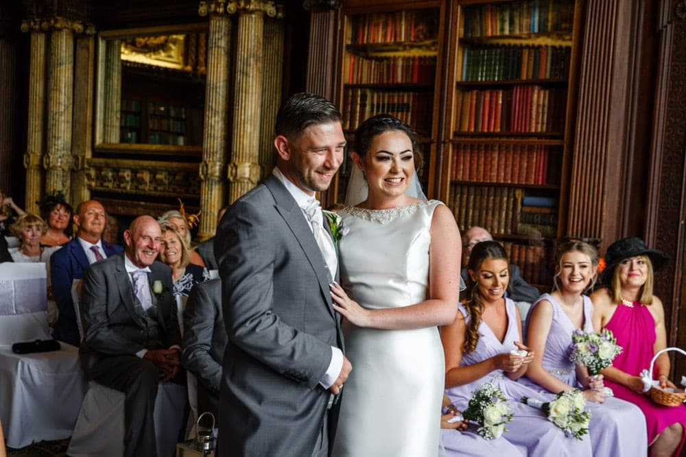 Bride and Groom getting married at Crewe Hall