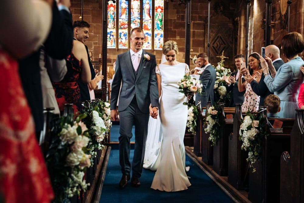 Church wedding in Cheshire