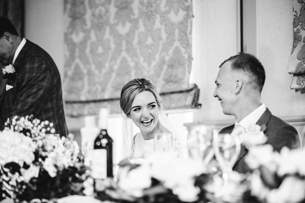 Photographs of the Speeches at a Mottram Hall Wedding in Cheshire