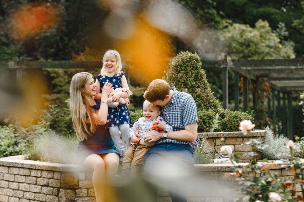 Bradshaw Family on their Fun Family Portrait Session at Fletcher Moss Gardens in Didsbury