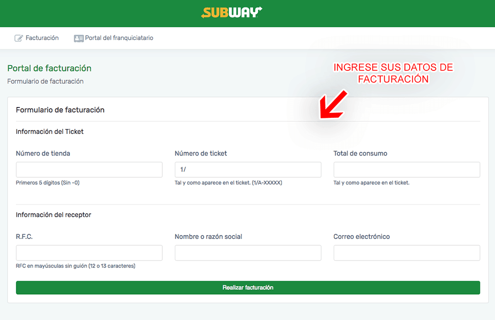 SUBWAY 0918 FACTURACION 0