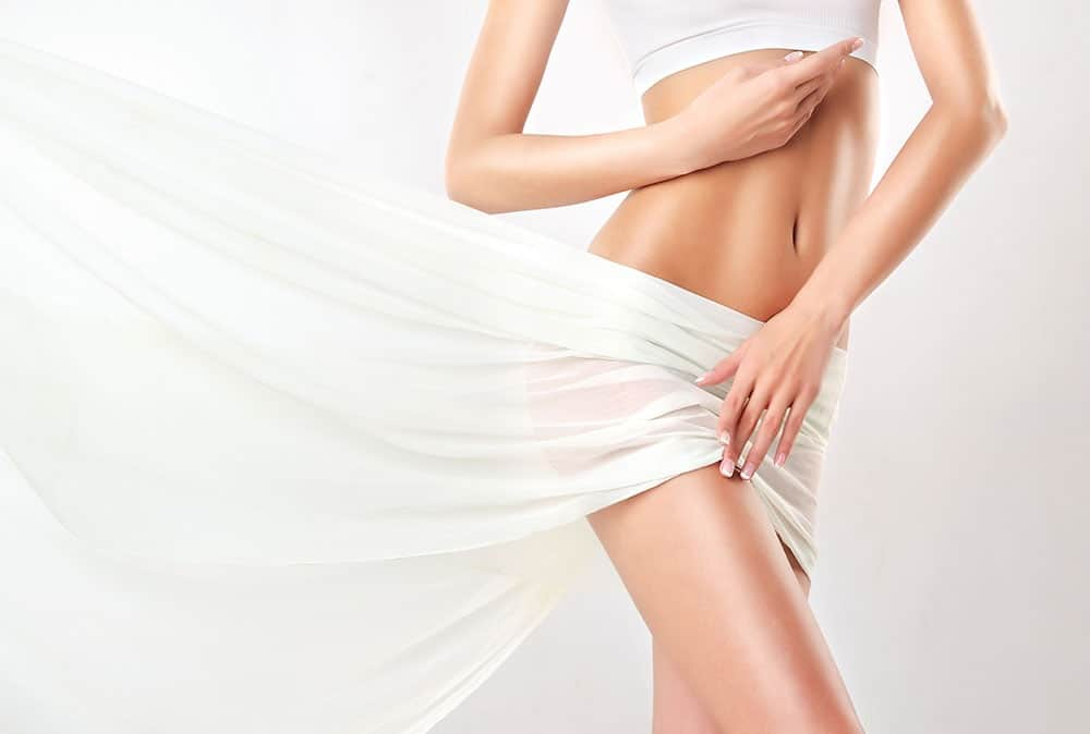 Drooping abdominal skin may require a tummy tuck