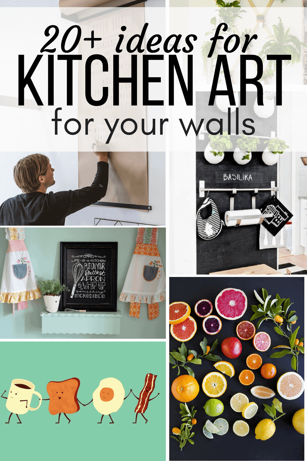 Charmant Collage Of Kitchen Art Ideas