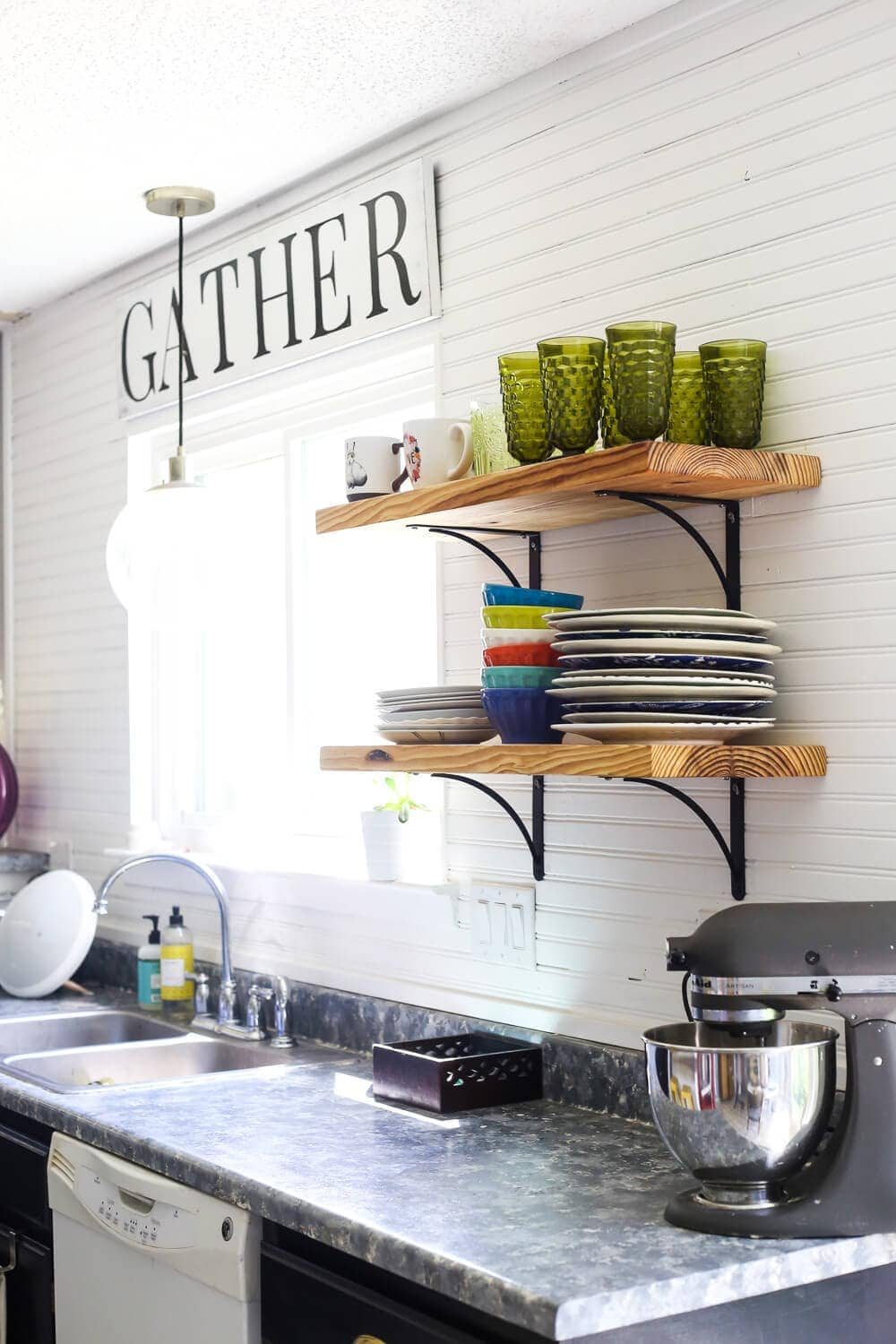 A bright, clean, and sunny spring home tour. Gorgeous, colorful inspiration and ideas for how to decorate your home for spring.