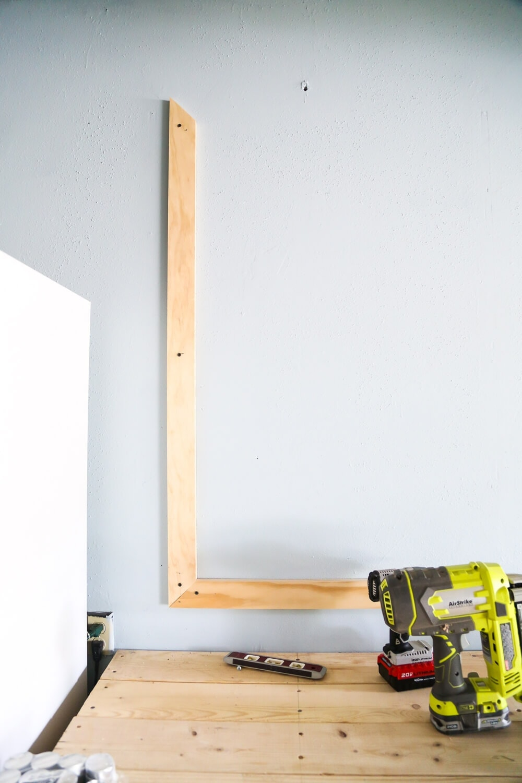 DIY frame for giant chalkboard