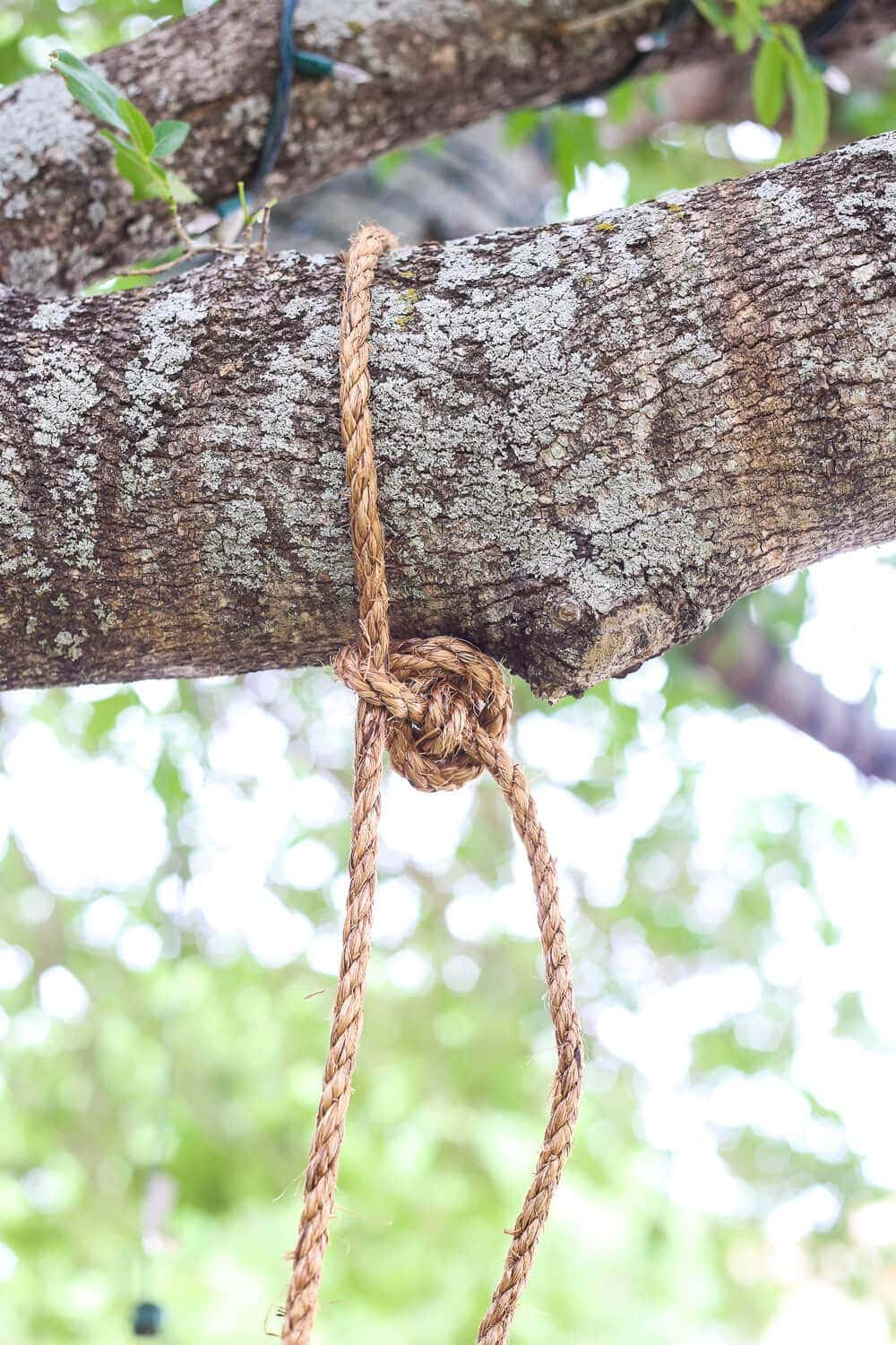 How to tie knot for tree swing