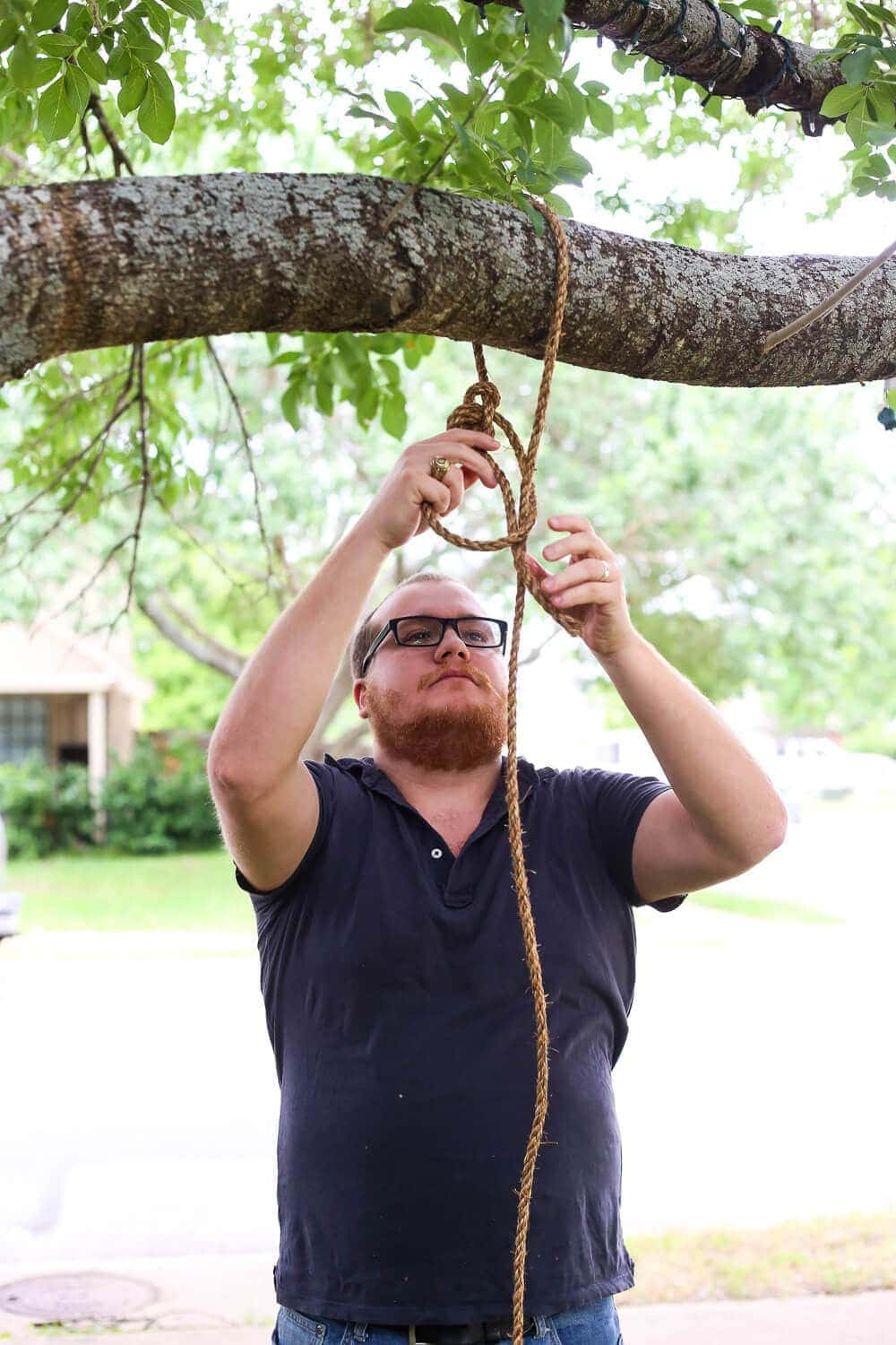 How to attach tree swing to branch